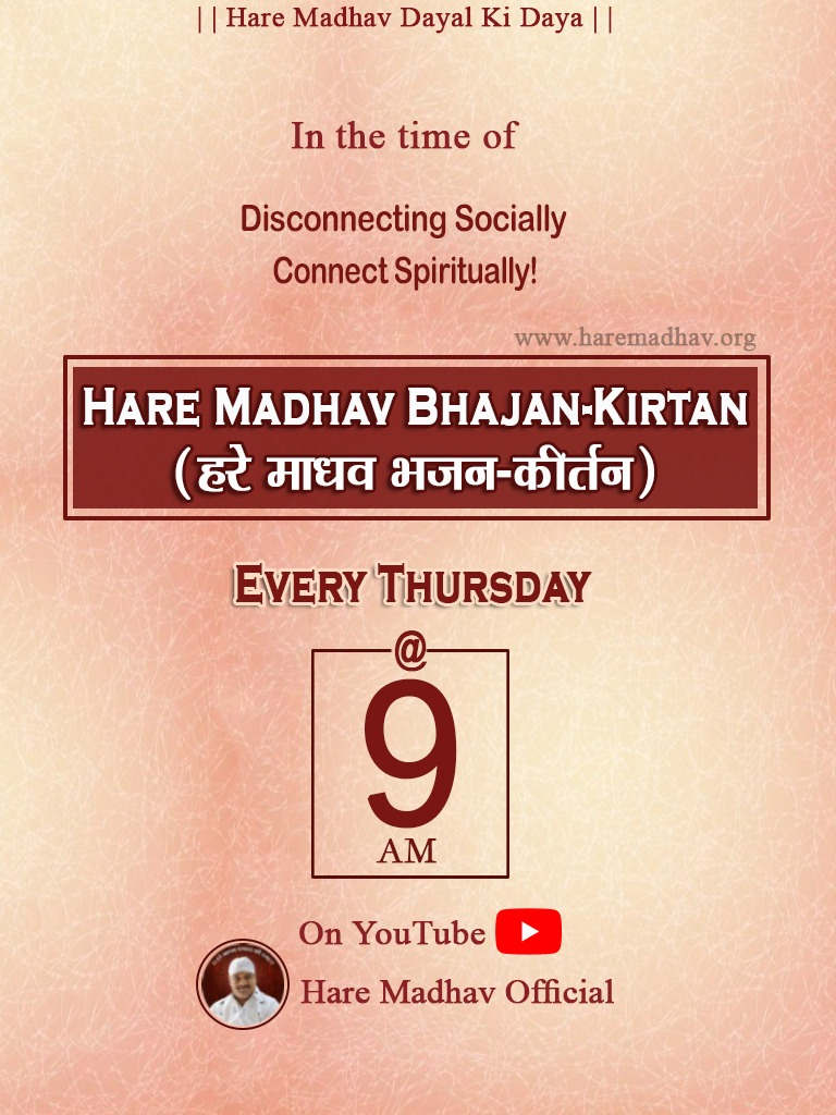 Hare Madhav Bhajan-Kirtan On YouTube