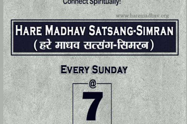 Hare Madhav Satsang